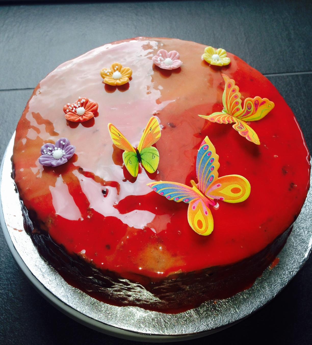 mirror glaze rezept torte