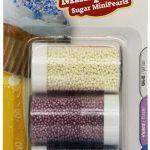 Zuckerstreudekor Perlen weisslilablau